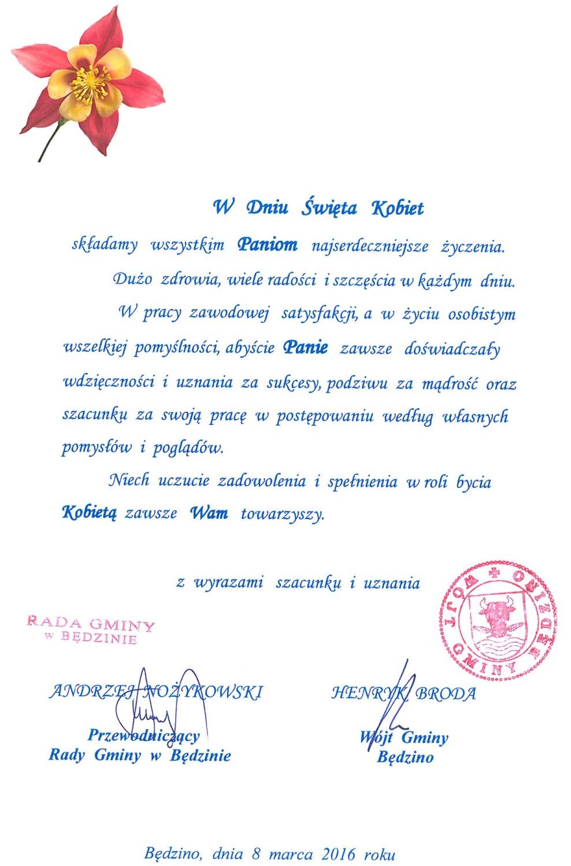 sms dzien kobiet Bielsko-Biała