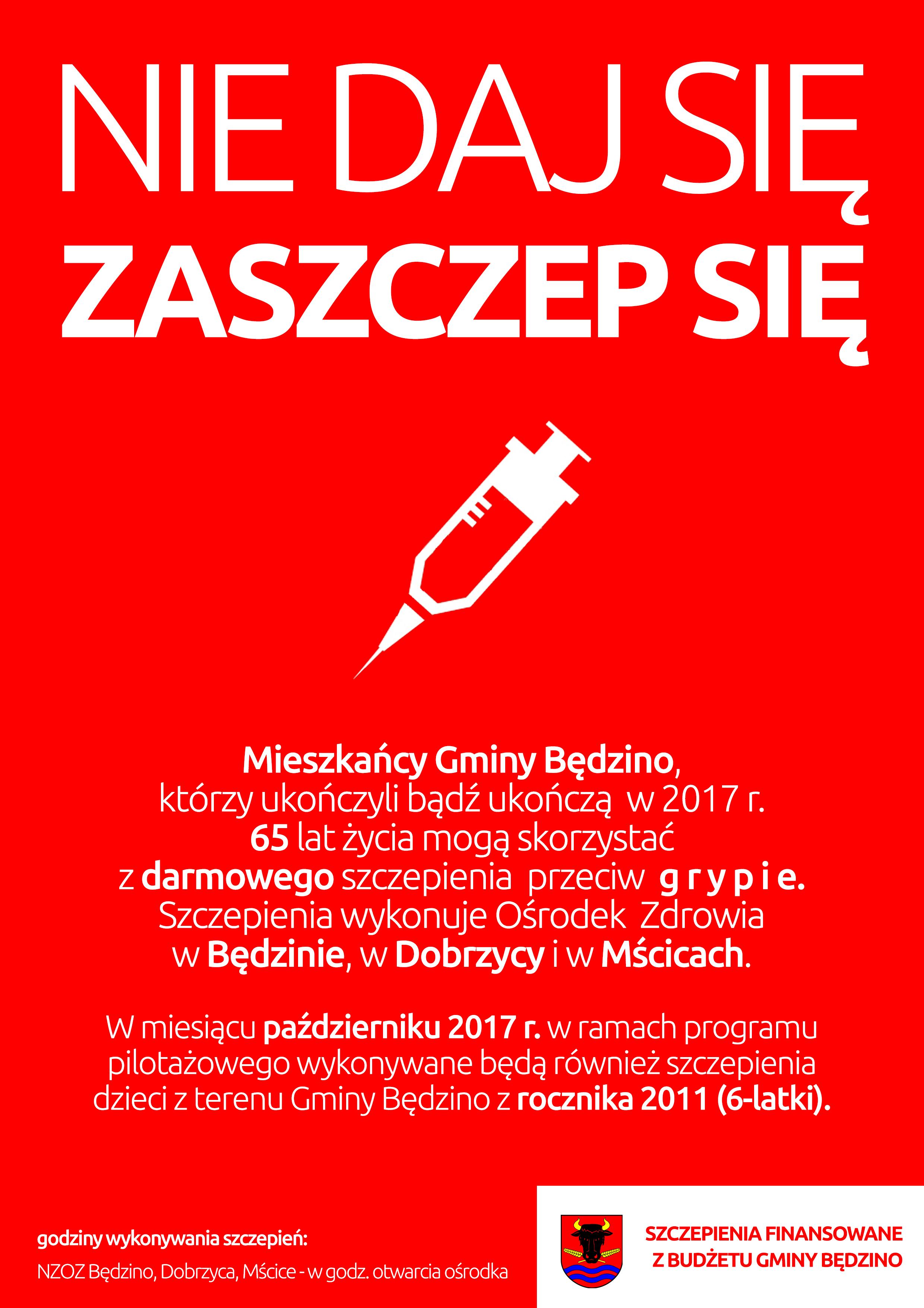 Szczepienia Przeciwko Grypie Gmina Będzino