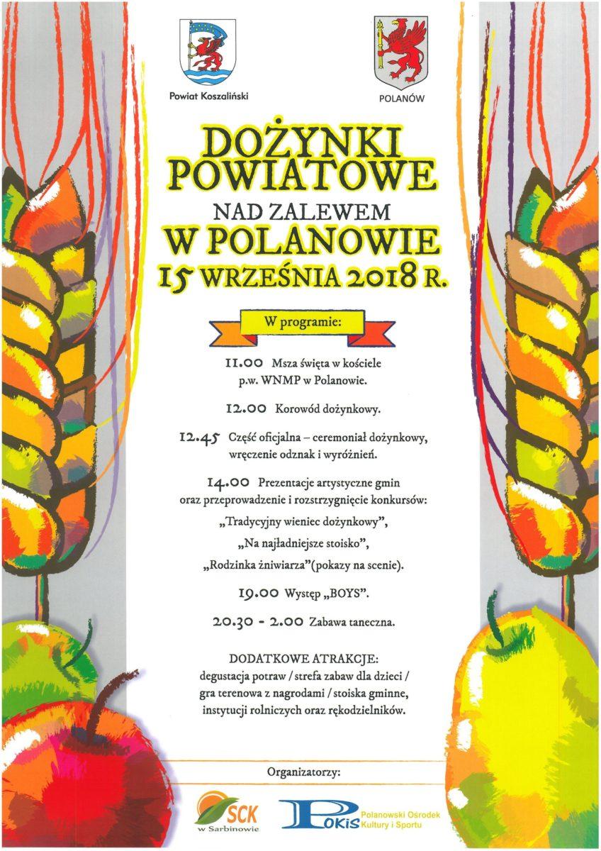 15092018 R Dożynki Powiatowe Nad Zalewem W Polanowie