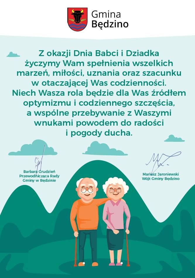 życzenia Z Okazji Dnia Babci I Dziadka Gmina Będzino