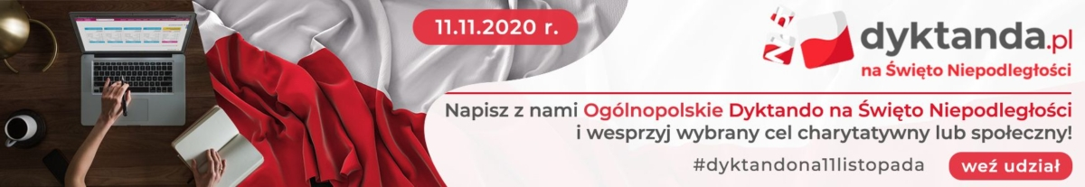 Baner dyktanda.pl na Święto niepodległości