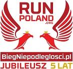 Logo Biegu niepodległości Jubileusz 5 lat