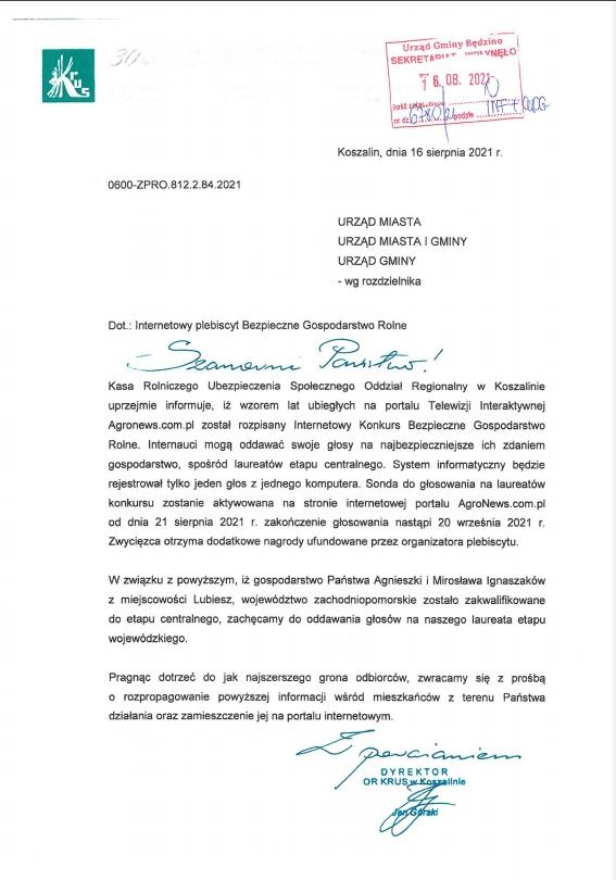 pismo KRUS